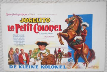 Little Colonel El pequeno coronel, Original Belgian Film Poster, Joselito 60